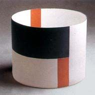 Cylinder with Black  Red