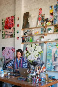 Space to Create: Australian Artist Jessica Watts. Studio tour and interview with Sydney painter Jess Watts.