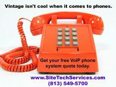 Old orange phone.