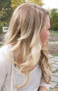 blonde ombre. So my natural color can grow in without there being a line