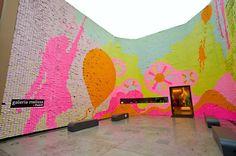post-it installation at galeria melissa, sao paulo