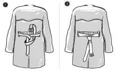 как завязать пояс на плаще (DIY)