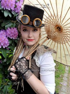 Cool Woman's Steampunk Costume: The Lady Captain of the Ark… Coolest Halloween Costume Contest