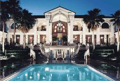 Gorgeous outstanding pool and two story plus walkout basement Classical Italian Mediterranean villa design by John Henry Architect