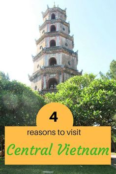 Here are 4 awesome reasons to visit Central Vietnam: indulge in food and culture in Hoi An and Hue, laze around at Danang beaches, take a cycling tour. #vietnam #hoian #hue #danang #cyclingtour