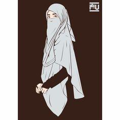 #hijab #vector #niqab @ahmadfu22 Cute Muslim Couples, Muslim Girls, Girl Cartoon, Cartoon Art, Character Drawing, Character Design, Muslim Pictures, Hijab Drawing, Hijab Cartoon
