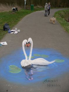 3D Pavement Chalk Art