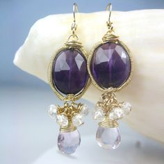 Purple amethyst, $77