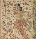 Bali Kamasan - DEMON GENERAL, FLAG (KOBER), 1920,... on MutualArt.com