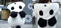 Wholesale Batwing Sleeves Panda Ears Hooded Fluffy Stitching Pockets Zipper Ladylike Women's Coat Only $11.40 Drop Shipping | TrendsGal.com