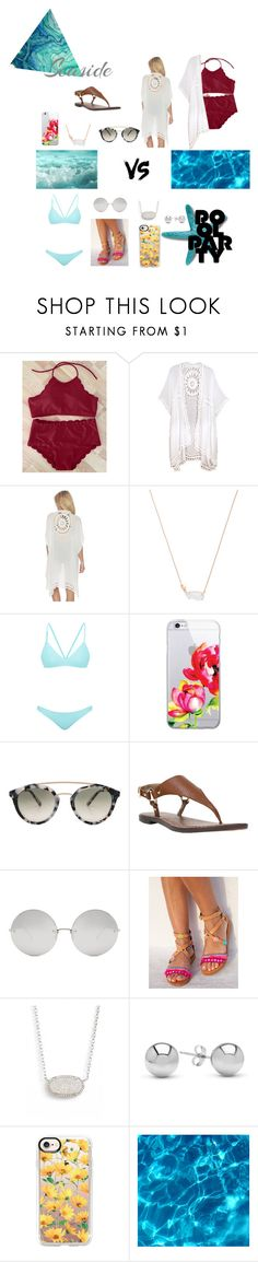 """""""Seaside vs Pool Party"""" by celiajhuber ❤ liked on Polyvore featuring Do Everything In Love, Kendra Scott, Bower, OTM Essentials, Westward Leaning, Sam Edelman, Linda Farrow, Jewelonfire and Casetify"""