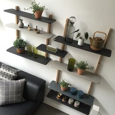 Danish design - Danish production. ©GROW shelving system are designed by Charlotte Holm Schau and made from natural materials such as sustainable European oak and linoleum. Among else sold at A Room Above.