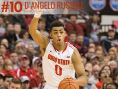 D'Angelo Russell, Ohio State: The freshman guard has Ohio State Basketball, College Basketball, Basketball Players, Basketball Court, Basketball Equipment, Basketball Shoes For Men, Ohio State University, Ohio State Buckeyes, Top 10 Colleges