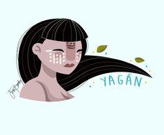 """Jezu Bunster Illustrations & Design  """"Mujer Indígena"""" -YAGÁN WOMAN-"""