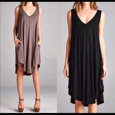 Kasselyn - V-Neck Swing Dress