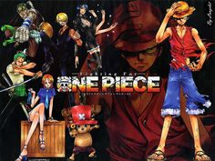 One piece . . . my favorite anime :) and i still watch this :D