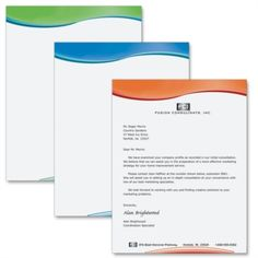 Swish Gradient Letterhead Papers -|PaperDirect Letterhead Paper, Decorative Paper, Borders For Paper, Paper Decorations, Prints, Paper Ornaments, Printmaking, Paper Bunting
