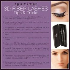 Younique 3D FIBER LASHES Tips & Tricks  ORDER YOURS HERE!  https://www.youniqueproducts.com/KarmenRHargis/products/view/US-1017-00#.VLg513uullE