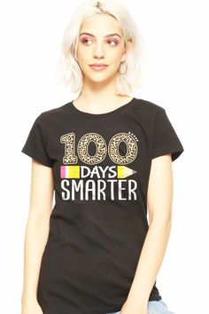 Diy For Girls, Shirts For Girls, Shirts With Sayings, Quote Shirts, Plaid Design, 100 Days Of School, School Gifts, 100th Day, Tuesday Morning