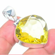 New (never used), New. Make an offer! Jewelry Accessories, Women Jewelry, Yellow Quartz, 925 Silver, Jewelry Necklaces, Pendant, Stuff To Buy, Things To Sell, Jewelry Findings