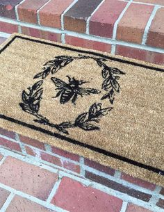 This Queen Bee Doormat is a fun reminder of how hard I work and it's got a Victorian flair to it! Vintage Bee, French Vintage, Rivera, Coir Doormat, Bee Art, Bee Theme, Bee Happy, Save The Bees, Bees Knees