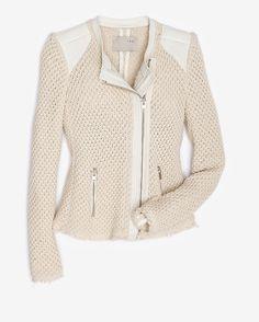 Iro Woven Cotton Leather jacket | Office Supplies