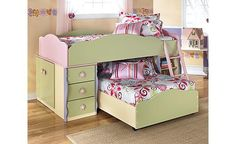 Doll House Loft Bedroom Set - for your girlly-girl, a doll house just her size! Now she can feel like a doll in her own customized doll house.  -by Ashley Furniture-
