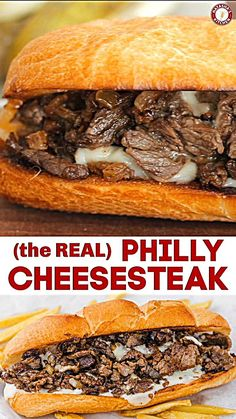 sandwich recipes Philly Cheesesteak with tender ribeye steak, melted provolone, and caramelized onion in a garlic butter roll. Easy Philly Cheesesteak Sandwich video how-to. Salami Sandwich, Steak Sandwich Recipes, Steak Sandwiches, Steak Cheese Sandwich, Philly Cheese Steak Seasoning, French Dip Sandwiches, Authentic Philly Cheese Steak Recipe, Sandwich Recipes, Steak Recipes