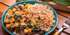 Egy finom Sütőtökös húsosfazék tarhonyával vacsorára, ebédre Fried Rice, Fries, Ethnic Recipes, Food, Essen, Nasi Goreng, Yemek, Stir Fry Rice, Meals
