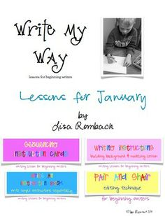 Write My Way lessons for beginning writers  JANUARY Bundle (sequencing instructions, learning to write instructions, writing your own instruction booklet) $