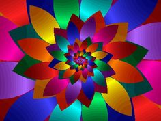 Kaleidoscope of many different bright colors