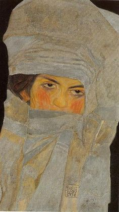 Egon Schiele, The Artist's Sister, Melanie, 1908, oil on canvas, 51.5 x 30 cm, Private Collection
