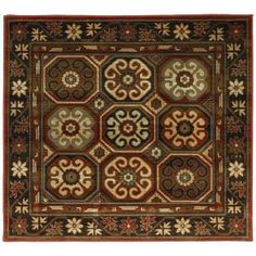 In Living Room and Dining Room   Mohawk Armin Medium Dark Gold 8 ft. x 8 ft. Area Rug-312411 at The Home Depot