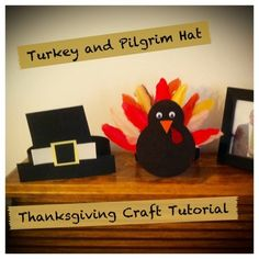 Thanksgiving Kids Crafts - Turkey and Pilgrim Kids Hats - The Un-Coordinated Mommy - Atlanta Mom Blogger