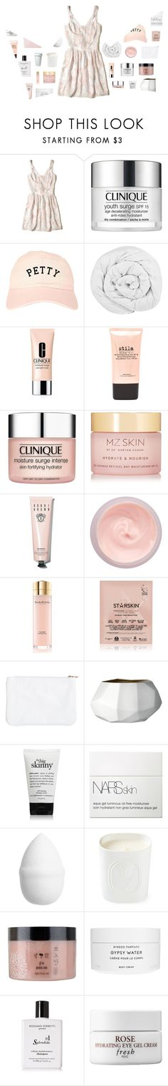 """""""🎶 i paint the pictures of the oceans i'll never see"""" by countless-possibilities ❤ liked on Polyvore featuring Hollister Co., Clinique, The Fine Bedding Company, Stila, MZ Skin, Bobbi Brown Cosmetics, By Terry, Elizabeth Arden, Starskin and Bloomingville"""