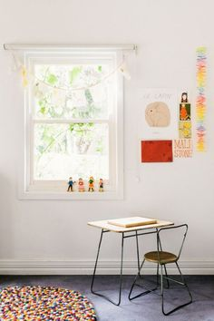 Kids Rooms - love these beautiful simple work spaces for children