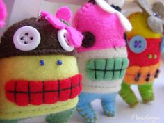 How do you tell the difference btwn monsters and voodoo dolls? These look like adorable little monsters to me.