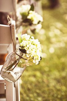 Our aisle flowers. Brides of adelaide magazine - real wedding - winery - country - rustic - Photography: Shona Henderson Photography - longview vineyards - australian Wedding 2017, Fall Wedding, Rustic Wedding, Wedding Ceremony, Our Wedding, Wedding Country, Wedding Things, Aisle Flowers, Wedding Flowers