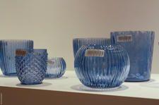 beautiful blue vases