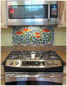 Tiles with Style -- 100% custom ceramic kitchen tiles - hand made ceramic tiles for the kitchen - kitchen ceramic tile backsplash designs and backsplash accent tiles