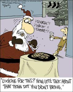 The Flying McCoys by Glenn and Gary McCoy  ~ Christmas Humor ~ Santa & Christmas Cookies