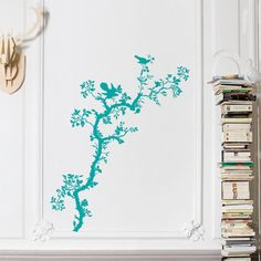 Bird Branch Decal Teal by Timorous Beasties, $29, now featured on Fab.