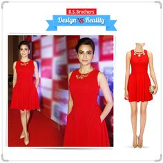 ‪#‎Design‬ vs ‪#‎Reality‬! ‪#‎KritiKharbanda‬ looks pretty in a 'Red skater dress'. How much would you rate for her style out of 5? Present your Interest in comments…  (Image copyrights belong to their respective owners)