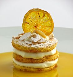 Ingredients Original recipe makes 6 creme brulees 2 cups heavy cream cup white sugar 6 egg yolks 1 teaspoo. Fancy Desserts, No Cook Desserts, Italian Desserts, Low Carb Desserts, Lemon Recipes, Sweet Recipes, Cake Recipes, Dessert Recipes, Profiteroles