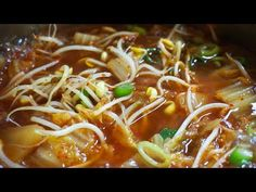 Japchae, Chili, Spaghetti, Soup, Cooking, Ethnic Recipes, Kitchen, Chile, Soups