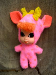 Rosa chica de venado Liddle Kiddles Animiddles delicada ciervos Mattel