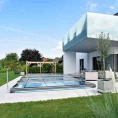 Superflache Poolüberdachung Für Den Garten