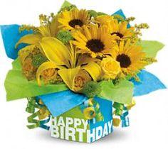 Telefloras Sunny Birthday Present Teleflora Flowers