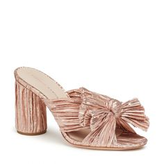 Penny Pleated Knot Mule