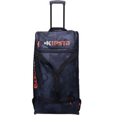 37a5c15380 27 - Football Bags and Travel Accessories - 105 LITRE hardcase travelbag -  black KIPSTA -
